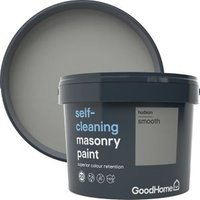 GoodHome Self-cleaning Hudson Smooth Matt Masonry paint  10L