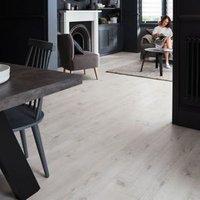 GoodHome Bilston White Oak effect Laminate flooring  2.49m² Pack