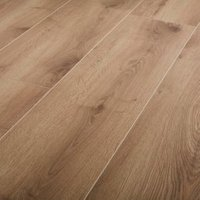 GoodHome Masham Natural Oak effect Laminate flooring 1.55m ² Pack