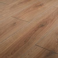 GoodHome Neston Natural Oak effect Laminate flooring  1.3m² Pack