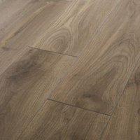 GoodHome Oldbury Grey Oak effect Laminate flooring  1.73m² Pack