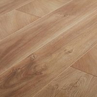 GoodHome Lydney Natural Oak effect Laminate flooring  1.76m² Pack