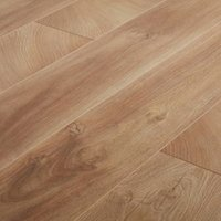 GoodHome Lydney Natural Oak effect Laminate flooring 1.76m ² Pack