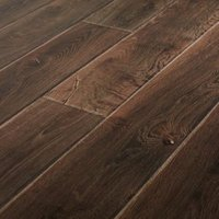 GoodHome Orford Grey Oak effect Laminate flooring 1.29m ² Pack