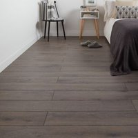 GoodHome Strood Grey Oak effect Laminate flooring  1.3m² Pack
