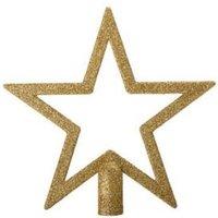 Glitter gold effect Star Tree topper