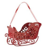 Red 3D Sleigh Decoration