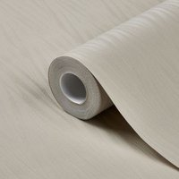 GoodHome Auntun Taupe Plain Metallic effect Wallpaper