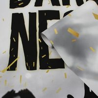 GoodHome Stenia Black & White Teenager Wording Mural
