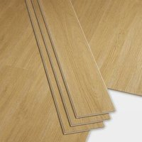 GoodHome Bachata Honey Wood effect Luxury vinyl click flooring  2.56m² Pack