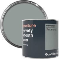 GoodHome Manhattan Flat matt Furniture paint 500ml