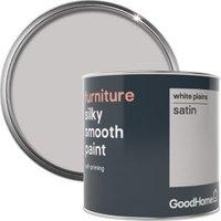 GoodHome White plains Satin Furniture paint 500ml