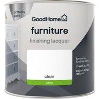 GoodHome Durable Clear Satin Furniture laquer 500ml