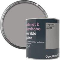GoodHome Durable Long island Matt Cabinet & wardrobe paint 750ml