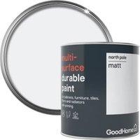 GoodHome Durable North pole Matt Multi-surface paint 750ml
