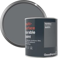 GoodHome Durable Hamilton Satin Multi-surface paint 750ml