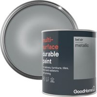 GoodHome Durable Bel air Metallic Multi-surface paint 750ml