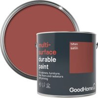 GoodHome Durable Fulham Satin Multi-surface paint 2L