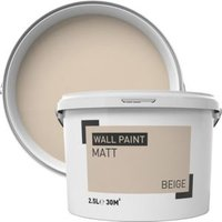 Beige Matt Emulsion paint 2.5L
