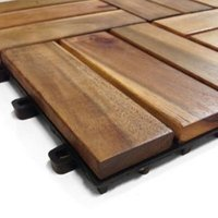 Blooma Brown Acacia Deck tile (L)0.3m (W)300mm (T)24mm