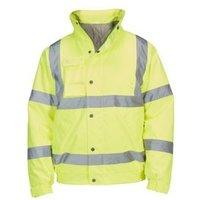 Yellow Waterproof Hi vis pilot jacket Large