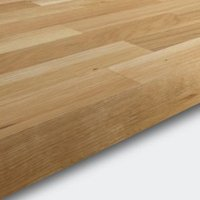 40mm Hinita Natural Solid timber Square edge Kitchen Island Worktop  (L)3000mm