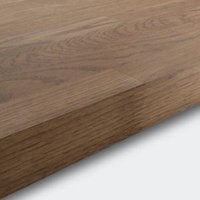 40mm Hinita Natural Solid oak Square edge Kitchen Island Worktop  (L)1800mm
