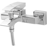 Cooke & Lewis Hopa Chrome plated Universal bath shower mixer tap