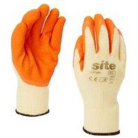 Site Latex & polycotton blend Gloves  Medium