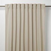 Klama Light brown Plain Unlined Pencil pleat Curtain (W)167cm (L)183cm  Single