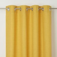 Novan Yellow Plain Unlined Eyelet Curtain (W)167cm (L)228cm  Single
