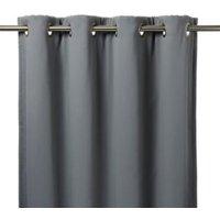 Vestris Dark grey Plain Thermal lined Eyelet Curtain (W)167cm (L)228cm  Single