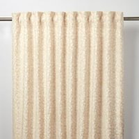 Mulgrave Beige Floral Unlined Pencil pleat Curtain (W)140cm (L)260cm  Single