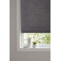 GoodHome Soyo Corded Dark grey Roman blind (L)160 cm (W)180 cm