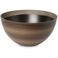 Lule Round Brown Pot (H)250mm (Dia)500mm