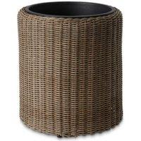 Soron Brown Rattan effect Plastic Plant pot (Dia)45cm