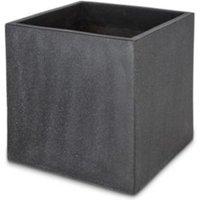 Hoa Square Dark grey Pot (H)500mm (L)500mm