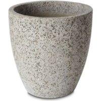 Hoa Round Light grey Pot (H)350mm (Dia)410mm