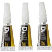 Diall Cyanoacrylate Liquid Superglue 2.7ml  Pack of 3