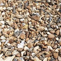 Blooma Gravel Golden brown Decorative stones  Large 22.5kg