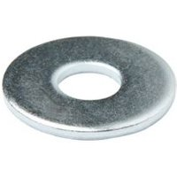 Diall M8 Carbon steel Flat washer  Pack of 100