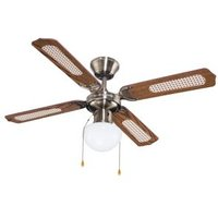 Lari Antique brass effect Ceiling fan light