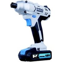 Mac Allister Cordless 18V 1.5Ah Lithium-ion Brushed Impact driver 2 batteries MSID18-Li