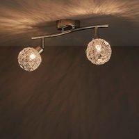 Bronte Bar Chrome effect Mains-powered 2 lamp Spotlight