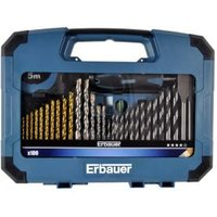 Erbauer Mixed drill bit set  100 Pieces
