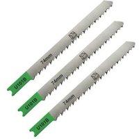 Universal U-Shank Jigsaw Blades SJG64600 (U101B) 100mm  Pack of 3