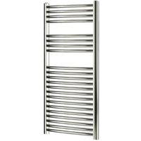 Blyss 304W Chrome Towel warmer (H)1100mm (W)450mm