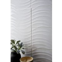 Catanzaro White Gloss Ceramic Wall tile  Pack of 12  (L)500mm (W)250mm