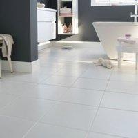 Monzie White Matt Ceramic Floor tile  Pack of 16  (L)300mm (W)300mm