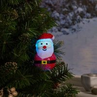 Battery operated Colour changing light function Santa Silhouette
